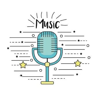 Microfone para cantar música no desempenho