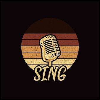 Microfone retrô cantar