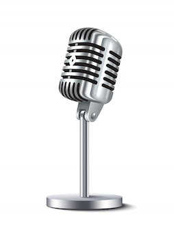 Microfone vintage isolado