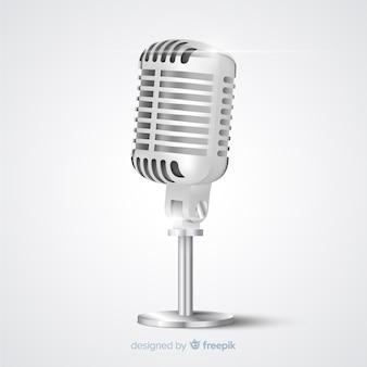 Microfone vintage realista