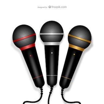 Microfones ilustração