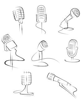 Microfones isolados