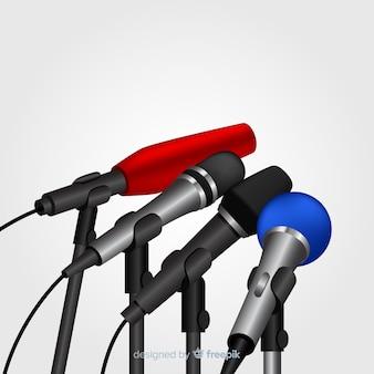 Microfones realistas para conferência