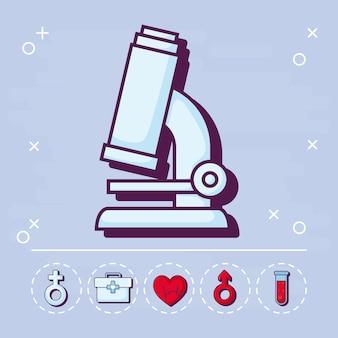Microscópio e médico