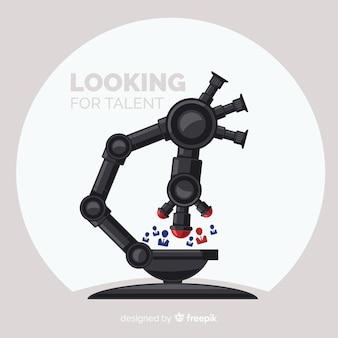 Microscópio procurando fundo de talento