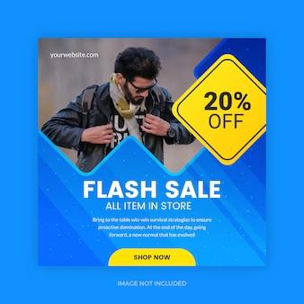 Mídia de promoção de vendas em flash