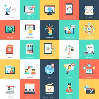 Mídia e ilustrações de publicidade