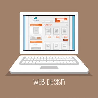 Mídia online de web design