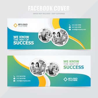 Mídia social corporativa facebook banner vector template