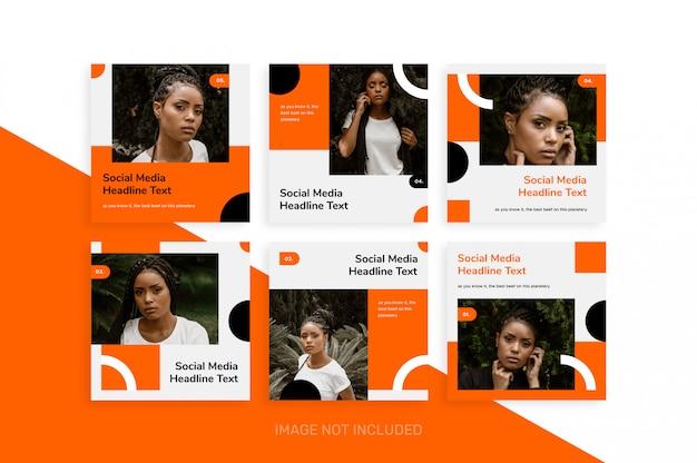 Mídia social criativa postar coleção de modelo memphis