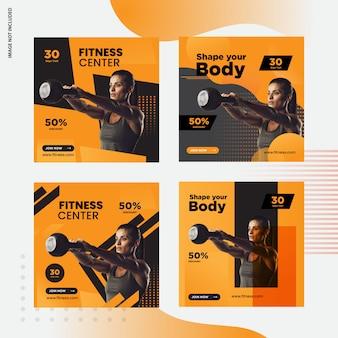 Mídia social de fitness post banner