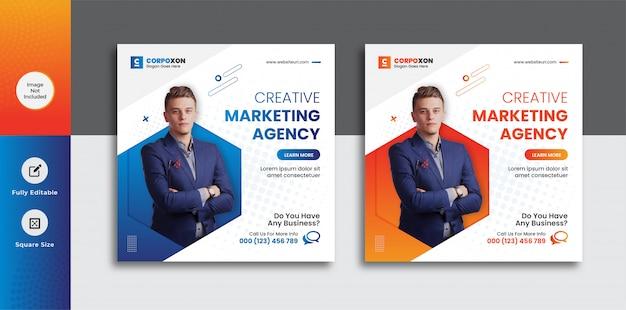 Mídia social de marketing digital digital de negócios postar modelo de banner da web