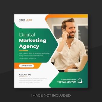 Mídia social de marketing digital e modelo de design de banner de postagem do instagram