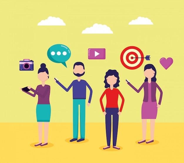 Mídia social de pessoas