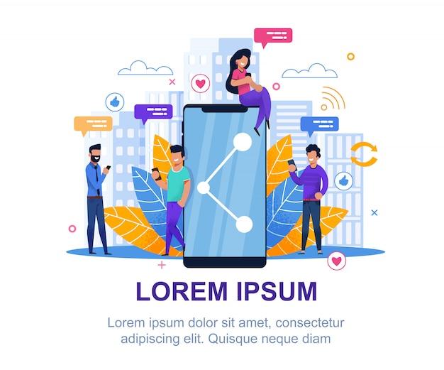 Mídia social. design de marketing de coleção moderna.