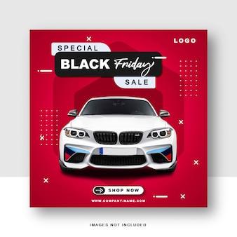 Mídia social especial da black friday e modelo de postagem no instagram