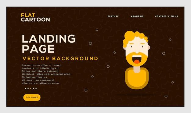 Mídia social landing page vector background