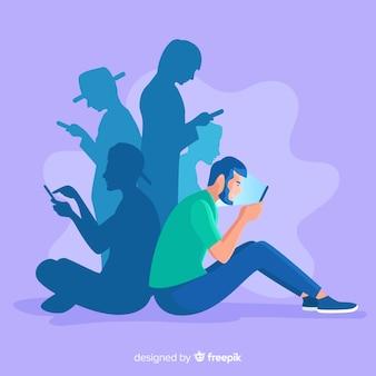 Mídia social matando o conceito de amizade
