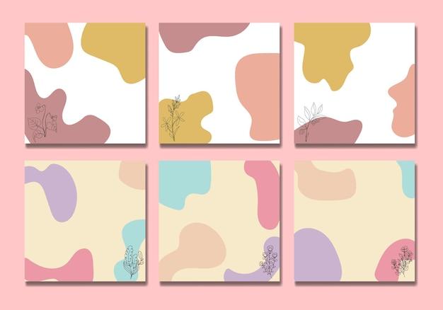Mídia social modelo de postagem flor fofa
