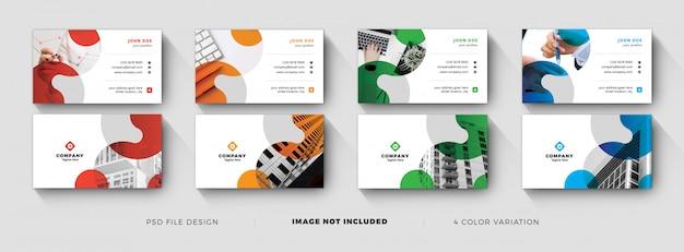 Mídia social para modelo de cartão de visita corporativo