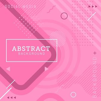 Mídia social postar modelo abstrato