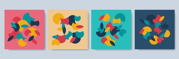 Mídia social postar modelo com textura geométrica colorida. modelo moderno geométrico abstrato para apresentação de negócios ou tecnologia, ilustração vetorial