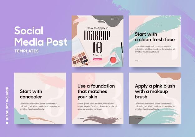 Mídia social postar modelo de moda
