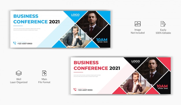 Mídia social promocional de negócios corporativos postar página de capa do facebook timeline modelo de banner de site on-line