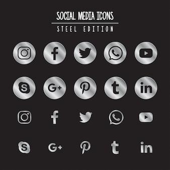 Mídia social steel edition