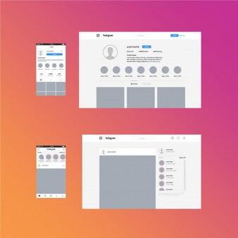 Mídias sociais instagram branding kit template