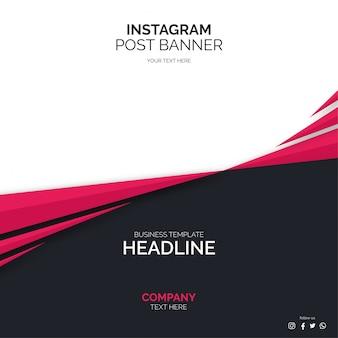 Mídias sociais postar modelo de banner com formas abstratas