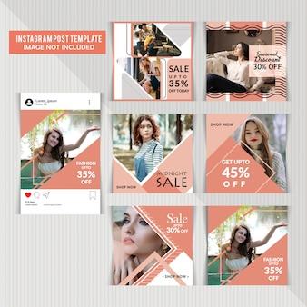 Mídias sociais postar modelos