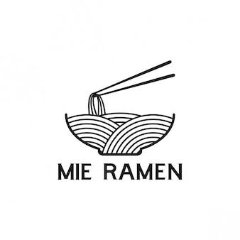 Mie ramen design de logotipo