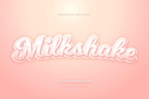 Milk-shake de efeito de texto