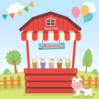 Milkshakes country booth