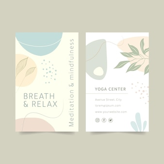 Mindfulness cartão de visita frente e verso