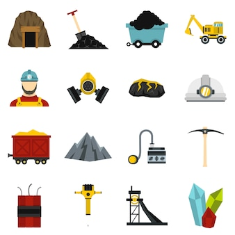 Mineiro definir ícones planas