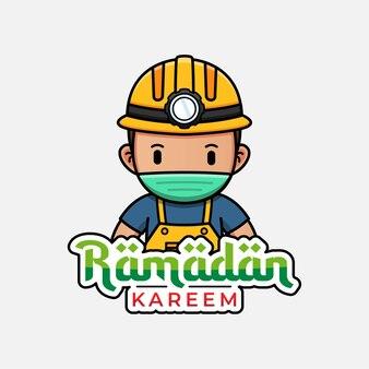 Mineiro fofo com saudação de ramadan kareem