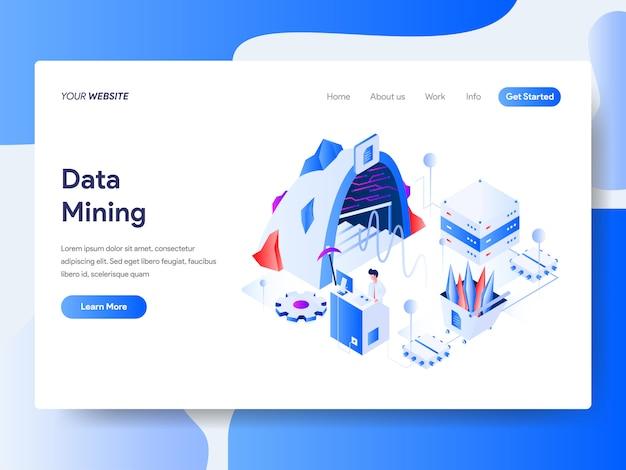 Mineração de dados isométrica para a página do site