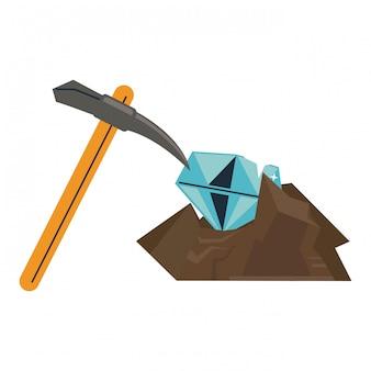 Mineração de diamantes e escolher