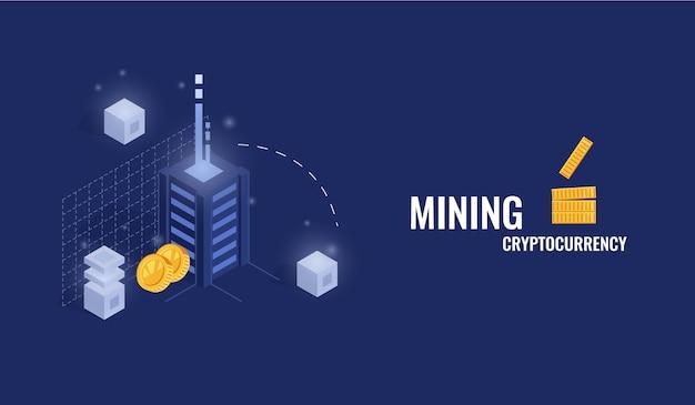 Mineração de moeda eletrônica e ganho, cálculo de algoritmo de bitcoin