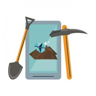 Mineração de smartphone e ferramentas