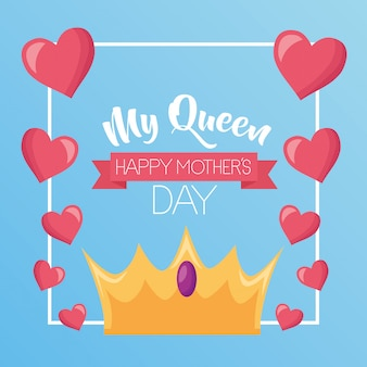 Minha rainha. feliz dia das mães cartão