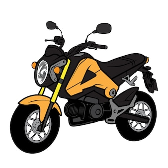 Mini bike cartoon