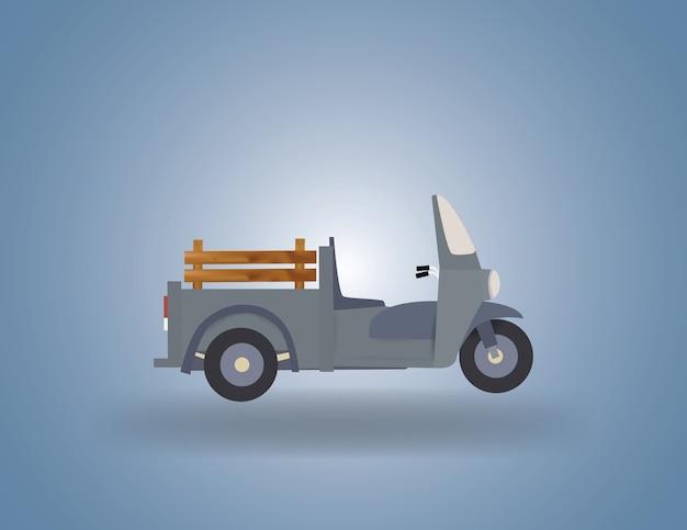 Mini caminhão com motor de três rodas
