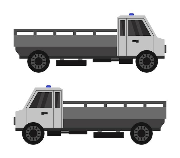 Mini caminhão em branco