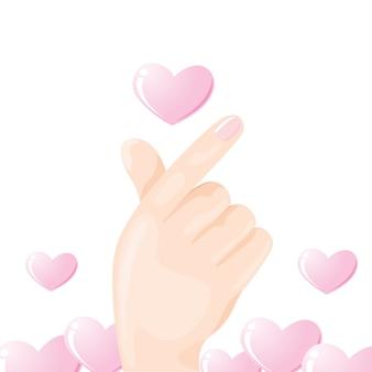 Mini dedo coração