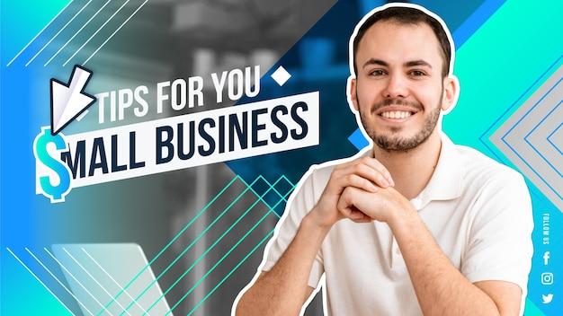 Miniatura abstrata do youtube de negócios