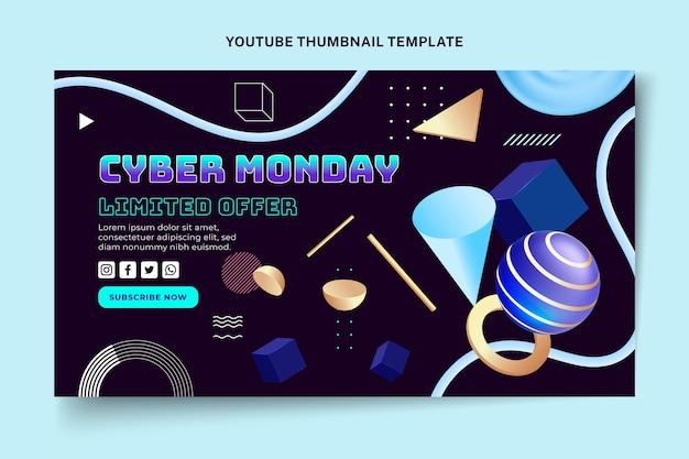 Miniatura cibernética realista do youtube