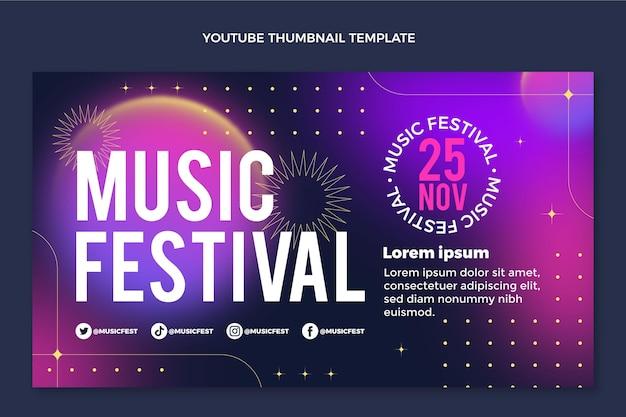 Miniatura colorida do youtube do festival de música